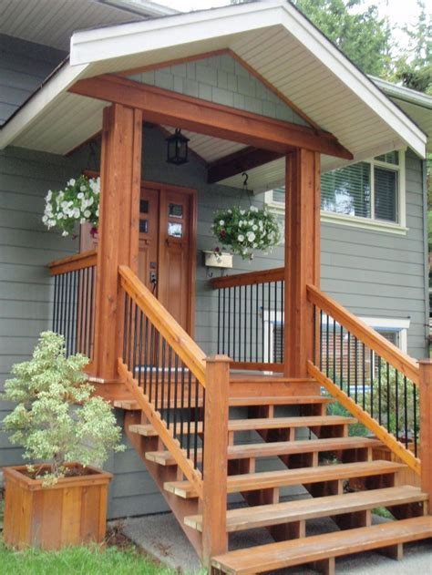 simple front porch plans ideas like it small porch then simple wood stairs i