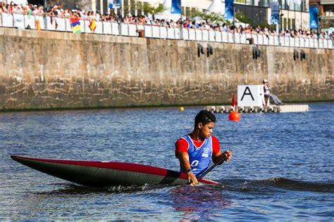 perurena declares yog canoeing competition tremendous success icf