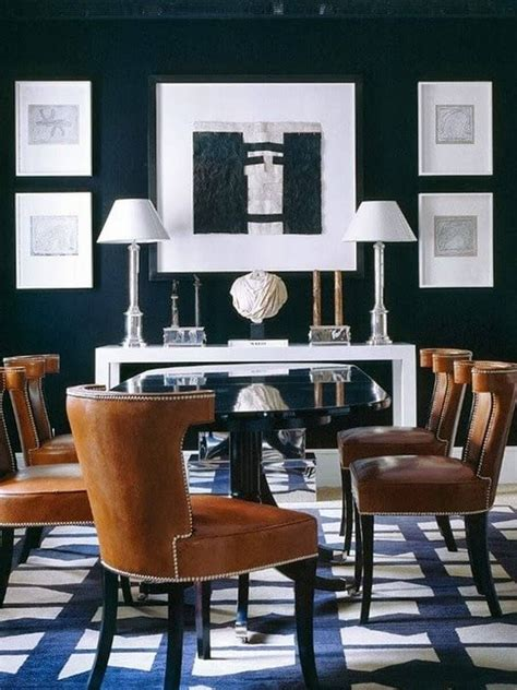 Furniture Dining Room Chairs Oak & Leather Dining Chairs