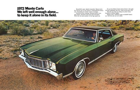 Chevrolet History by 1972 Chevrolet Monte Carlo Pictures History