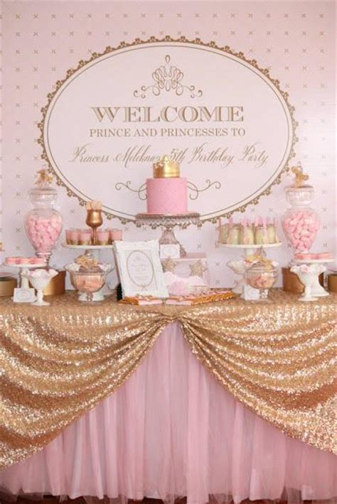 Pink And Gold Birthday Decorations by Gold And Pink Princess Themed Birthday By Couture