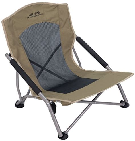 folding cing chair sitting low seat steel frame