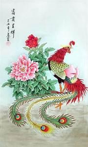 Chinese Phoenix Painting phoenix 2703064, 55cm x 95cm(22 ...