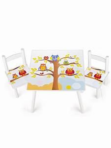 Table Enfant Avec Chaise : table et 2 chaises enfant motif hiboux leomark fr ~ Teatrodelosmanantiales.com Idées de Décoration
