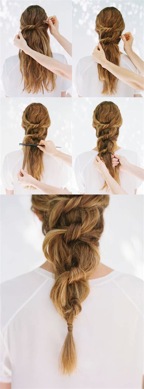 diy knot ponytail diy weddings oncewed