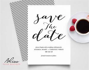 black and white custom printable save the date save the With images of save the date wedding invitations