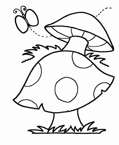 Coloring Pages Simple Flowers Fall