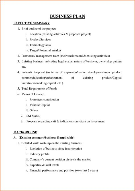 sample  business plan proposal  project proposal