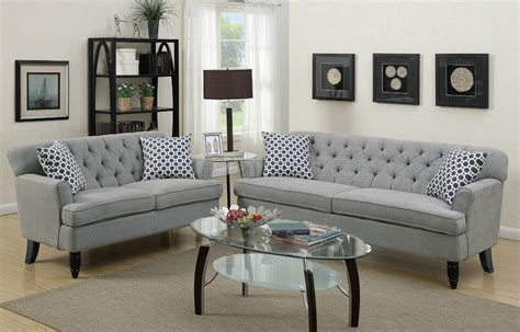 Loveseat And Ottoman Set by F6940 Sofa Loveseat Set In Taupe Velveteen Fabric By