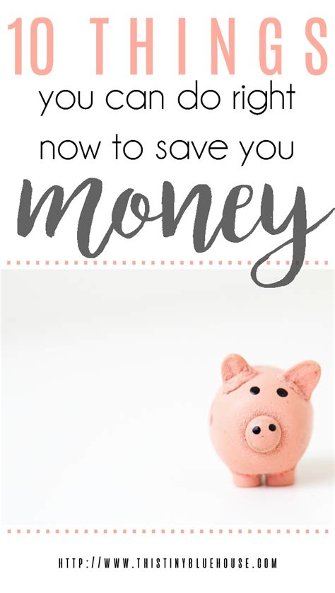 things save money right