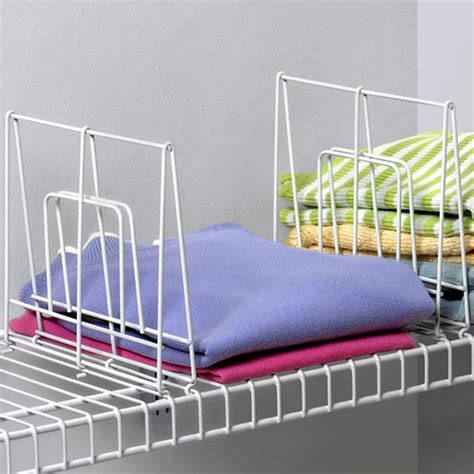 wire shelf dividers wire shelf dividers 8 inch in shelf dividers