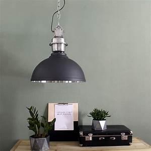 Lampe Suspension Industrielle : suspension industrielle rome gris ~ Dallasstarsshop.com Idées de Décoration