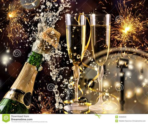 year celebration  champagne stock photo image