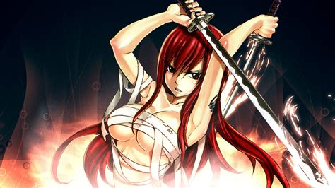 erza scarlet wallpaper hd  wallpapersafari