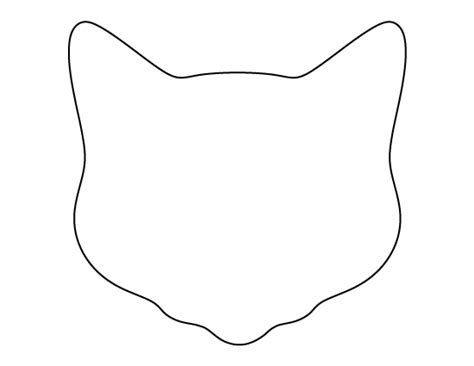 printable cat face template