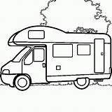 Camping Camper Coloring Coloriage Malvorlagen Rv Colouring Coloriages Truck Motorhome Ausmalbilder Malen Baufahrzeuge Caravana Dibujo Colorier Zum Enfant Kleurplaat Affefreund sketch template