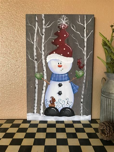 christmas wood sign snowman decorations holiday decor