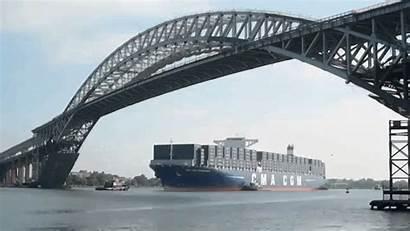 Bridge Under Ship Visit Bayonne Container Animated