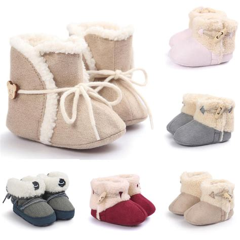 newborn crib shoes baby boy soft sole booties snow boots infant toddler