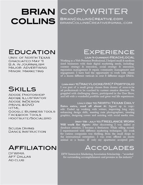 Copywriter Resume Creative by My Resume Copywriter Portfolios