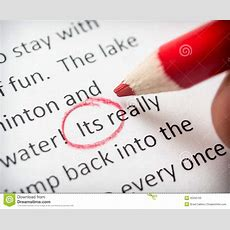 Proofreading Its Error Stock Image Image Of Class, English 35290763