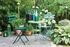 Salon De Jardin Couleur : peindre les meubles de jardin ~ Teatrodelosmanantiales.com Idées de Décoration