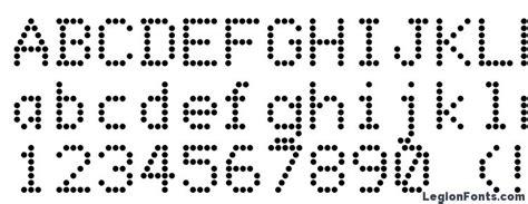 dot matrix font   legionfonts