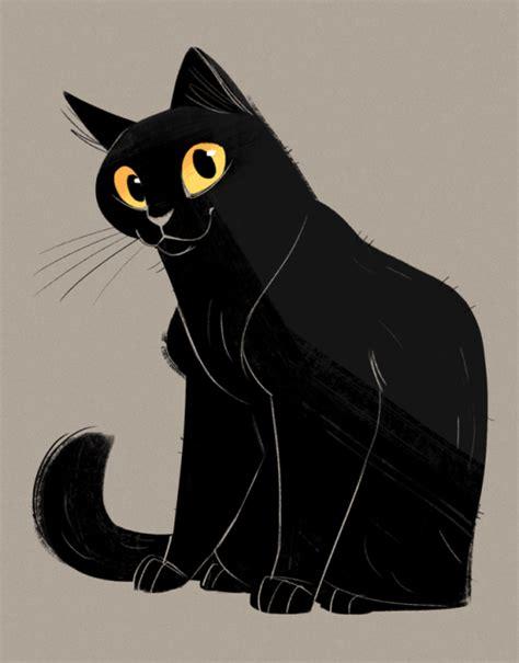 black cat drawing tumblr