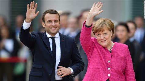 french president macron heads  berlin