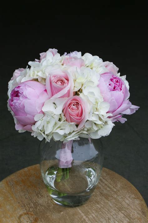 Pink And White Wedding Flowers Stadium Flowers