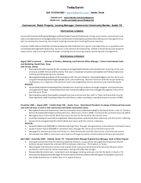 teddy garvin commercial property resume 5 2015