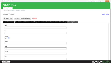the form tag attributes when building the form to