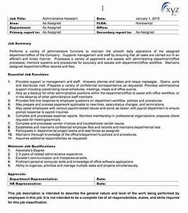 generic job description template free store general With generic job description template