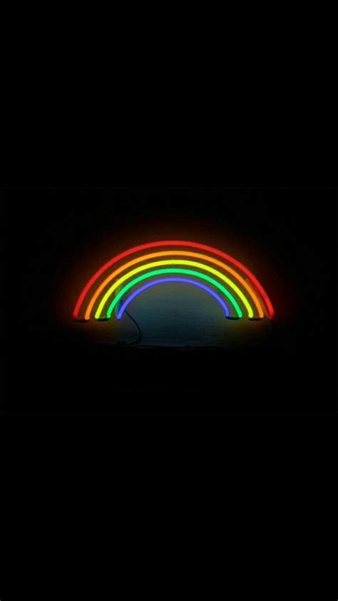 happy pride month neon wallpaper rainbow wallpaper