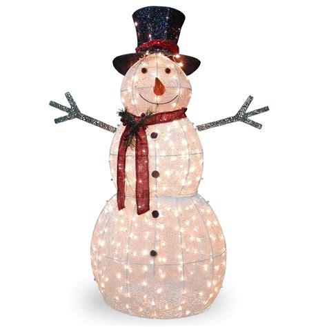 Outdoor Lighted Snowman Decorations by Crystal Snowman Christmas Decoration Wayfair