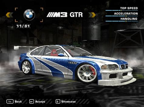 speed  wanted  bmw  gtr  mega pack