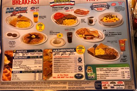 All-Star Special Waffle House Menu