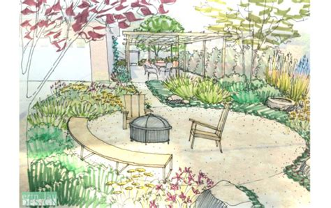 Garden Creation: How to draw a Perspective Sketch ...