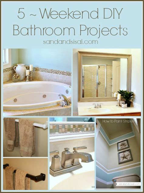 relaxing bathroom decorating ideas 5 weekend projects for the bathroom sand and sisal