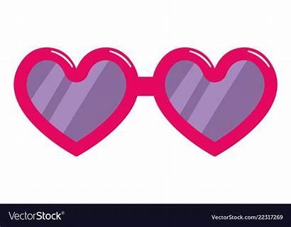 Heart Glasses Shaped Vector Royalty