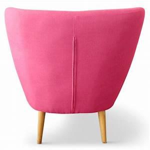 Fauteuil Rose Scandinave : fauteuil scandinave stuart tissu rose pas cher scandinave deco ~ Teatrodelosmanantiales.com Idées de Décoration