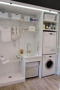 Trockner Auf Waschmaschine Schrank : cocina comedor despensa y planchador premio del p blico en casa decor laundry room ~ Frokenaadalensverden.com Haus und Dekorationen
