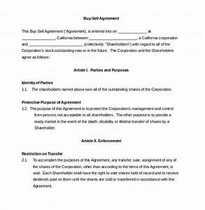 buy sale agreement template 10 free word pdf document With selling a business contract template