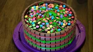 Rezept: Süßigkeiten Kuchen mit Kinder Schokolade, Smarties