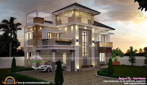 Super Stylish Contemporary House  Kerala Home Design And