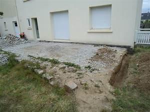 realisation d39une ceinture en beton pour chantier terrasse With realisation d une terrasse en beton