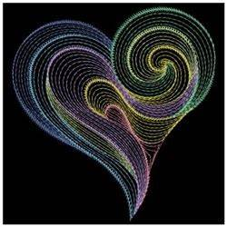Rippled Neon Hearts Embroidery Designs Machine Embroidery