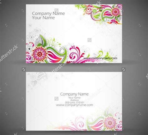 examples  floral business cards word psd ai