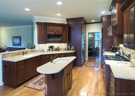 Kitchen Paint Colors With Natural Cherry Cabinets by Pictures Of Kitchens Traditional Dark Wood Cherry