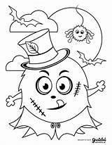 Coloring Halloween Monster Printable Sheets Kid Thanksgiving Makeitgrateful Adaptable Frankenstein Crafts Template sketch template
